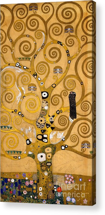 Klimt Acrylic Print featuring the painting Tree of Life by Gustav Klimt