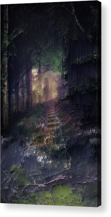 Landscape Acrylic Print featuring the digital art Morning light on the very last day by Jenny Filipetti