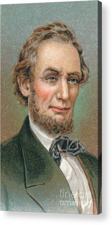 Engraving Acrylic Print featuring the drawing Abraham Lincoln 1809-1865 16th by Print Collector