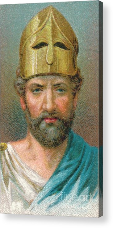 Democracy Acrylic Print featuring the drawing Perikles C490-429 Bc, Athenian by Print Collector