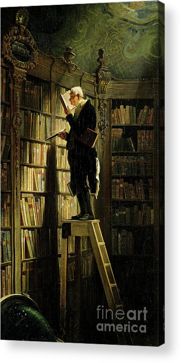 Librarian Acrylic Print featuring the drawing The Bookworm by Heritage Images
