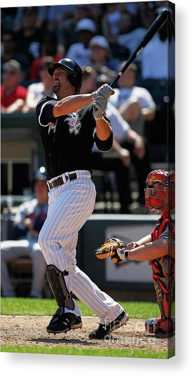 American League Baseball Acrylic Print featuring the photograph Paul Konerko by Jonathan Daniel