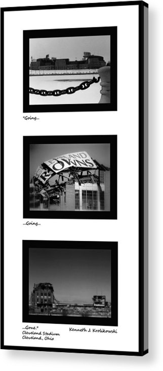 Cleveland Acrylic Print featuring the photograph Going Going Gone by Kenneth Krolikowski