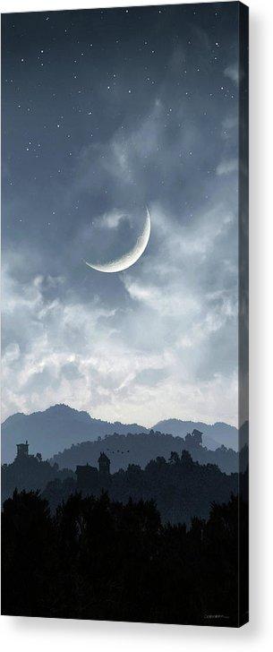 Twilight Acrylic Print featuring the digital art Twilight by Cynthia Decker