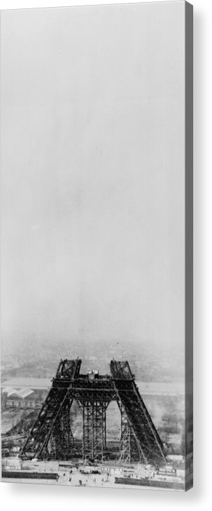 1880-1889 Acrylic Print featuring the photograph Eiffel Construction 4 by Henry Guttmann Collection