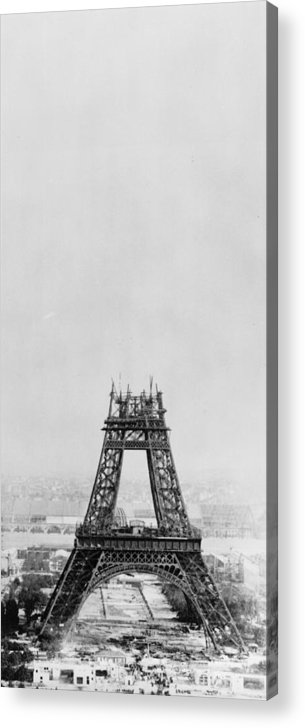1880-1889 Acrylic Print featuring the photograph Eiffel Construction 7 by Henry Guttmann Collection