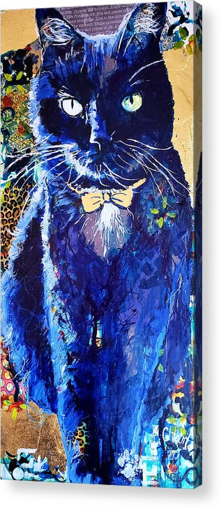 Cat Acrylic Print featuring the painting His Majesty by Goddess Rockstar
