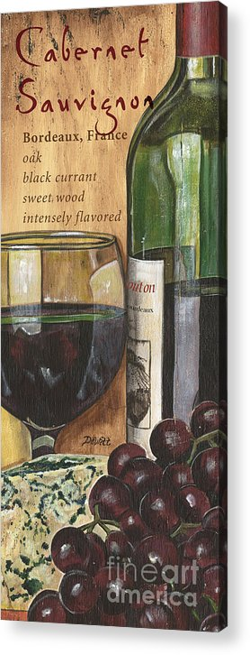 Cabernet Acrylic Print featuring the painting Cabernet Sauvignon by Debbie DeWitt