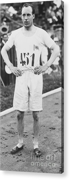 The Olympic Games Acrylic Print featuring the photograph 1924 Olympic 400-meter Winner Eric by Bettmann