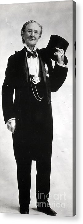 People Acrylic Print featuring the photograph Doctor Mary Walker In Tuxedo by Bettmann