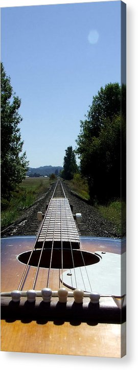 Guitar Acrylic Print featuring the photograph Move On Down The Line by Everett Bowers