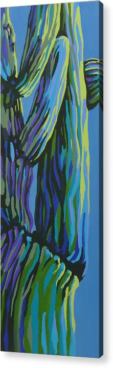 Cactus Acrylic Print featuring the painting Waking Up by Sandy Tracey