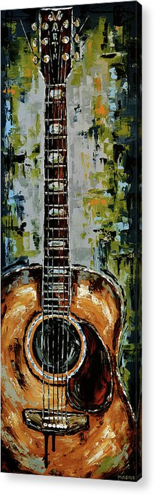 Guitar Acrylic Print featuring the painting Martin by Magda Magier