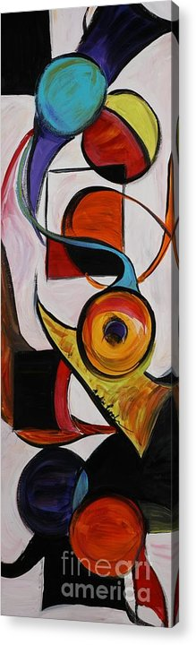 Shapes Acrylic Print featuring the painting Relationships by Nadine Rippelmeyer