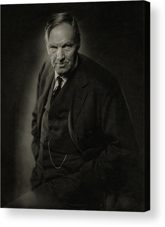 Personality Acrylic Print featuring the photograph A Portrait Of Clarence Darrow by Nickolas Muray