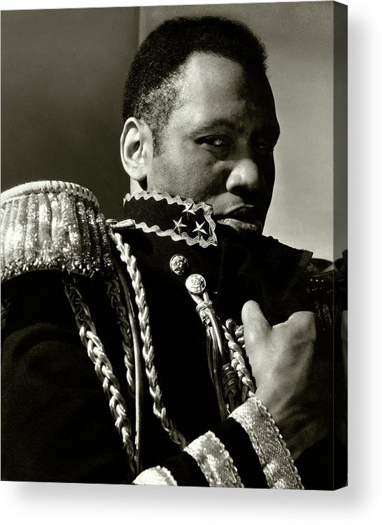 One Person Acrylic Print featuring the photograph A Portrait Of Paul Robeson by Edward Steichen