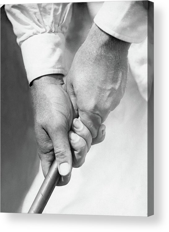 Entertainment Acrylic Print featuring the photograph Bobby Jones Holding A Golf Club by O. B. Keeler