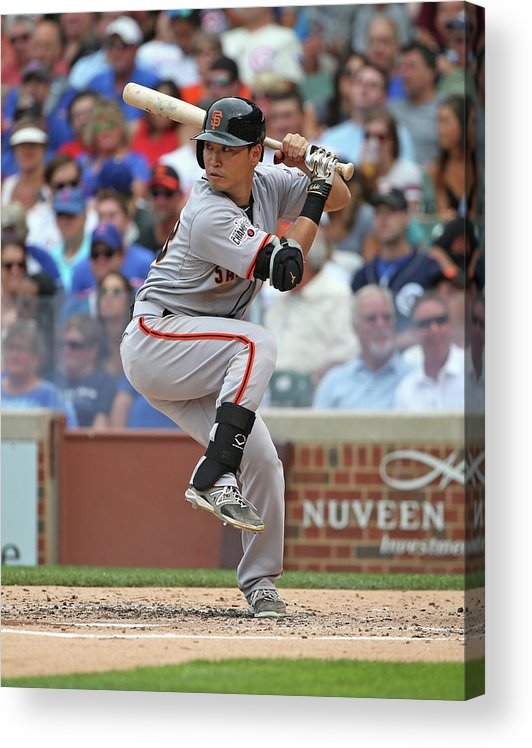 People Acrylic Print featuring the photograph San Francisco Giants V Chicago Cubs by Jonathan Daniel