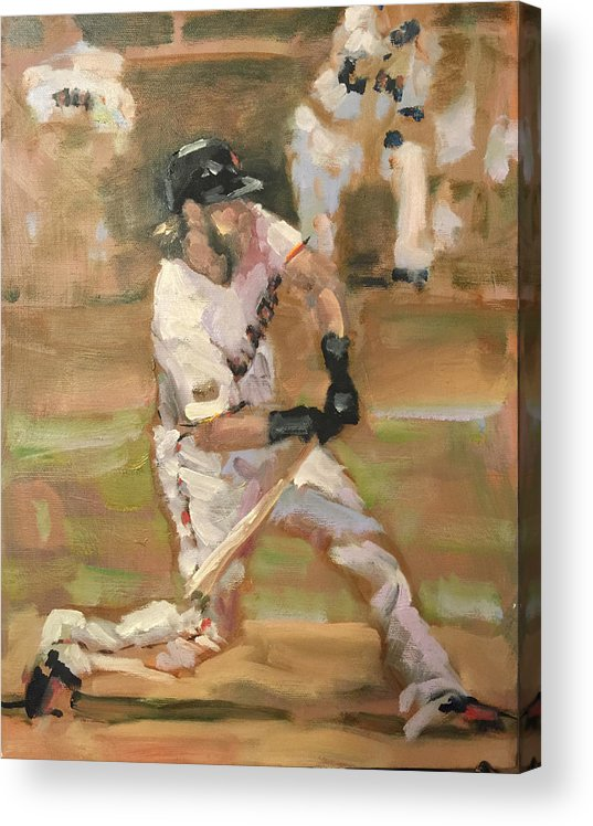 Sf Giants Acrylic Print featuring the painting Untitled 1 by Darren Kerr