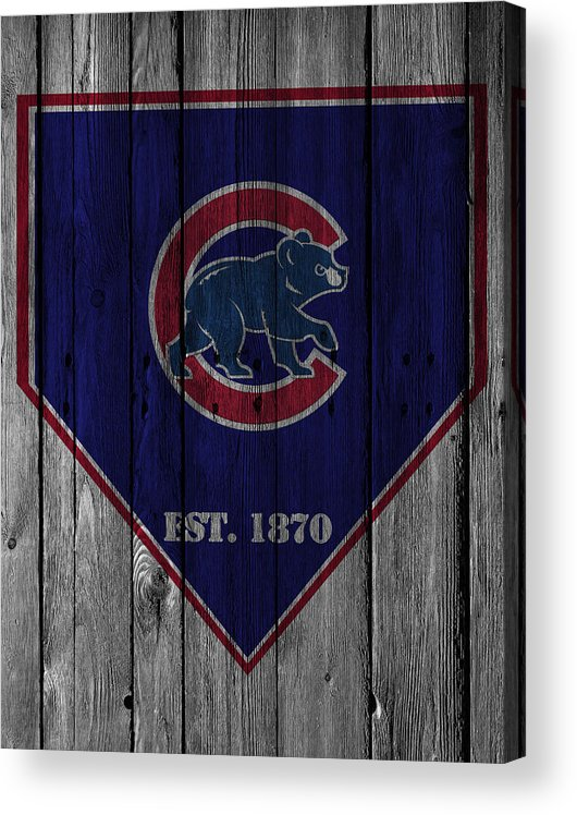 Cubs Acrylic Print featuring the photograph Chicago Cubs by Joe Hamilton