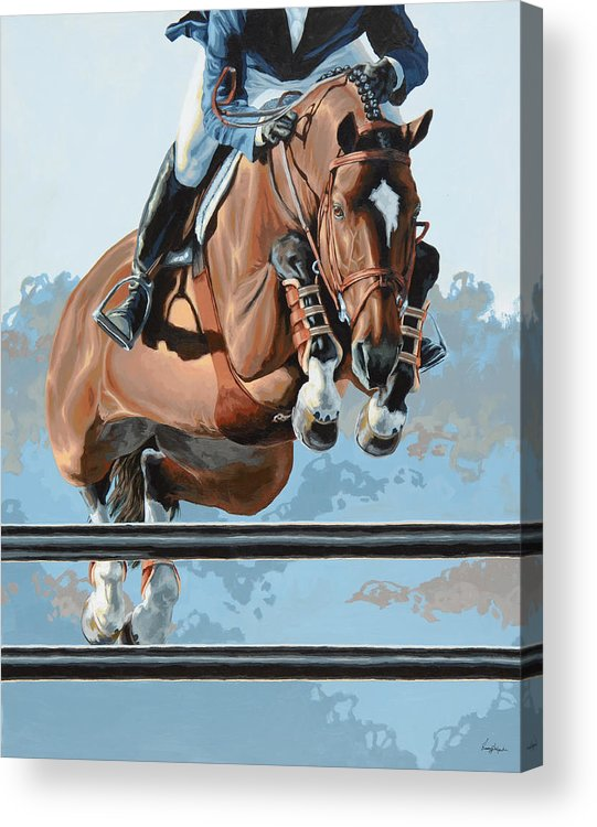 Horse Acrylic Print featuring the painting High Style by Lesley Alexander