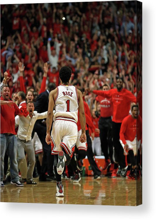 Chicago Bulls Acrylic Print featuring the photograph Cleveland Cavaliers V Chicago Bulls - by Jonathan Daniel