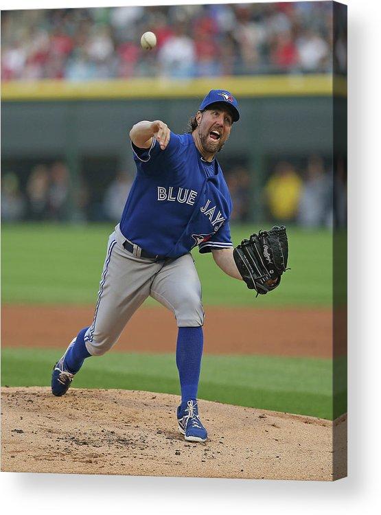 American League Baseball Acrylic Print featuring the photograph Toronto Blue Jays V Chicago White Sox by Jonathan Daniel