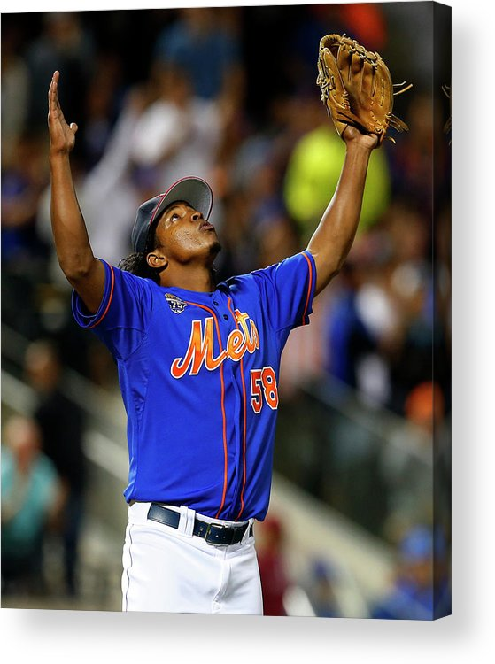 Ninth Inning Acrylic Print featuring the photograph Texas Rangers V New York Mets by Rich Schultz