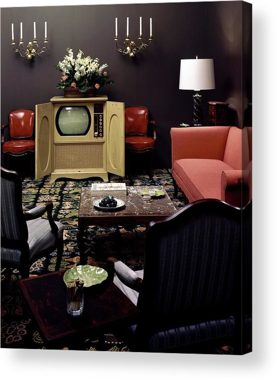 Furniture Acrylic Print featuring the photograph A Living Room by Haanel Cassidy