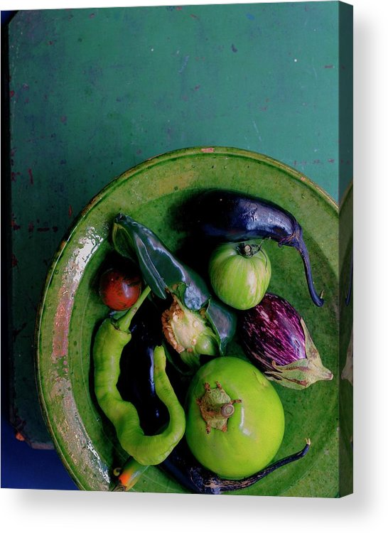 Fruits Acrylic Print featuring the photograph A Plate Of Vegetables by Romulo Yanes