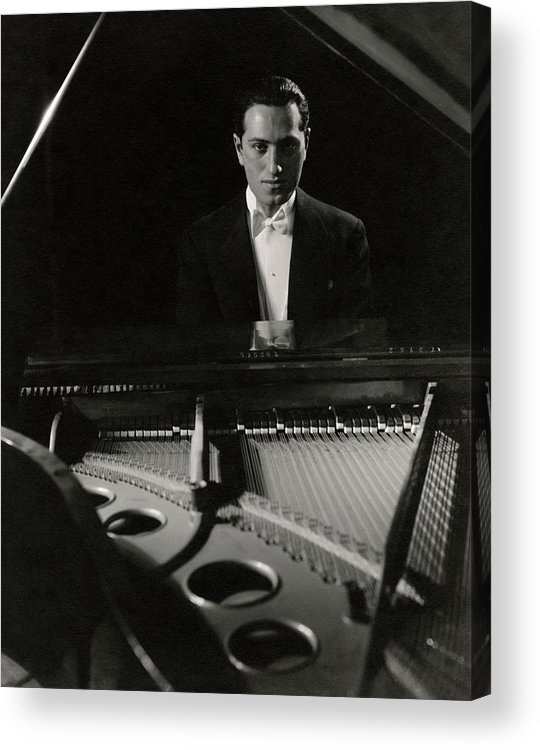 Entertainment Acrylic Print featuring the photograph A Portrait Of George Gershwin At A Piano by Edward Steichen