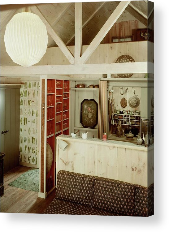 Home Acrylic Print featuring the photograph A Rustic Kitchen by Haanel Cassidy