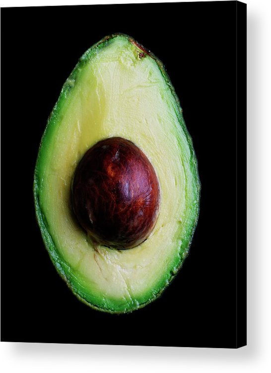 Fruits Acrylic Print featuring the photograph An Avocado by Romulo Yanes