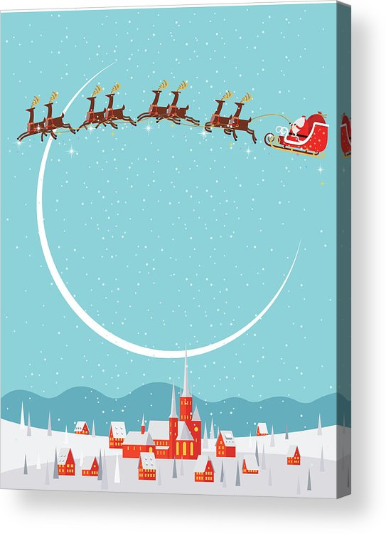 Holiday Acrylic Print featuring the digital art Christmas Background by Akindo