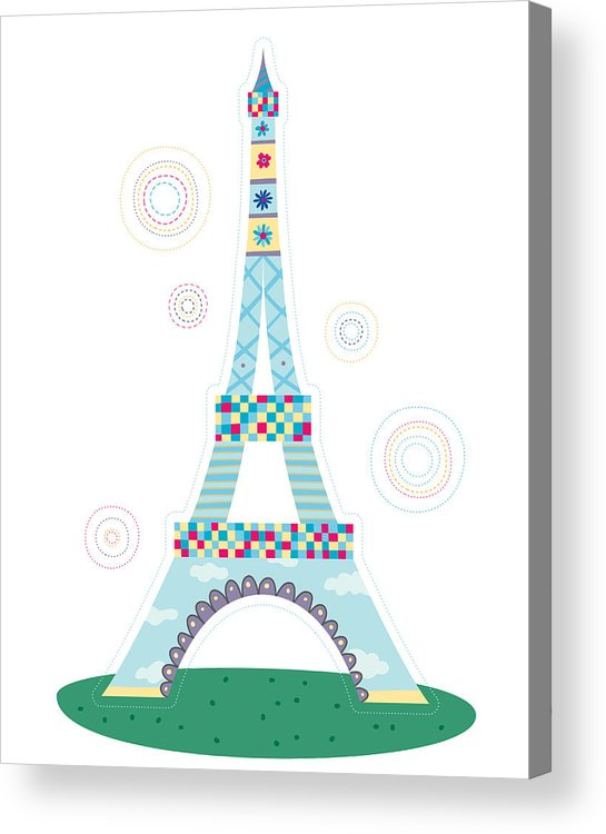 Event Acrylic Print featuring the digital art Close-up Of Tower by Eastnine Inc.