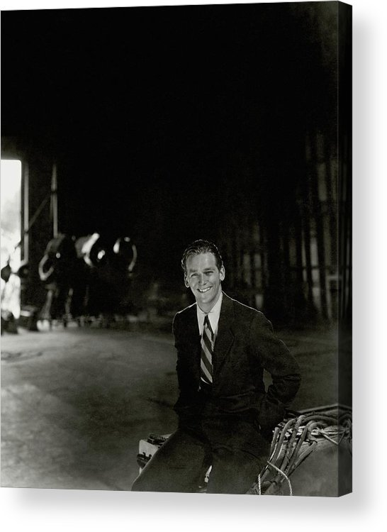 Actor Acrylic Print featuring the photograph Douglas Fairbanks Jr On A Film Set by Cecil Beaton