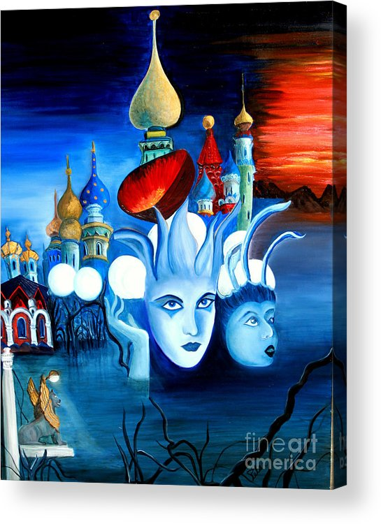 Surrealism Acrylic Print featuring the painting Dreams by Pilar Martinez-Byrne