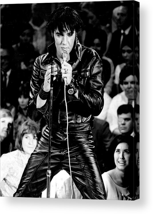 Classic Acrylic Print featuring the photograph Elvis Presley In Leather Suit by Retro Images Archive