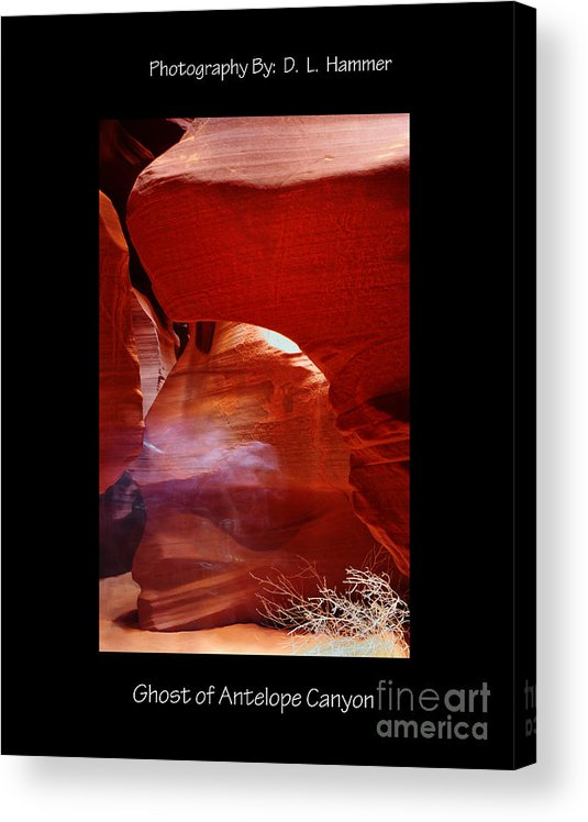 Places Acrylic Print featuring the photograph Ghost of Antelope Canyon by Dennis Hammer