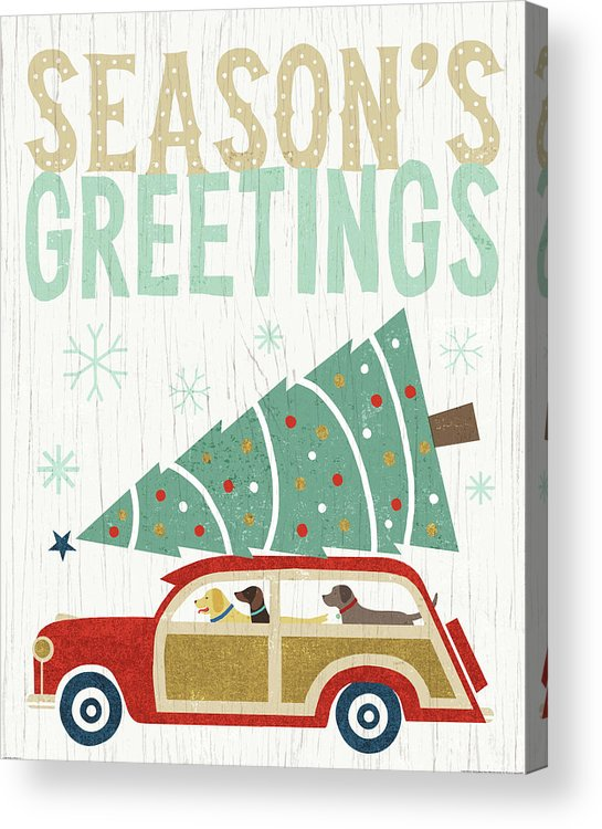 Animals Acrylic Print featuring the painting Holiday On Wheels II V2 by Michael Mullan