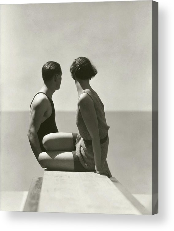 Outdoors Acrylic Print featuring the photograph The Divers by George Hoyningen-Huene