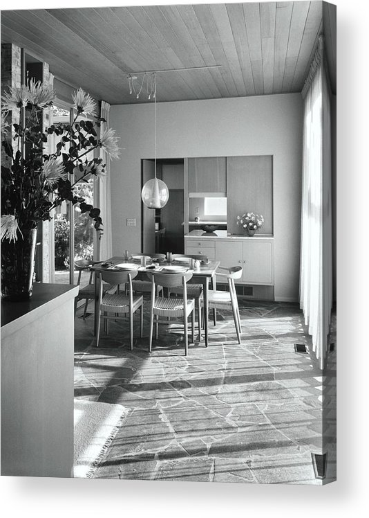 Indoors Acrylic Print featuring the photograph House Designed By Roland Terry And Philip Moore by Dearborn-Massar
