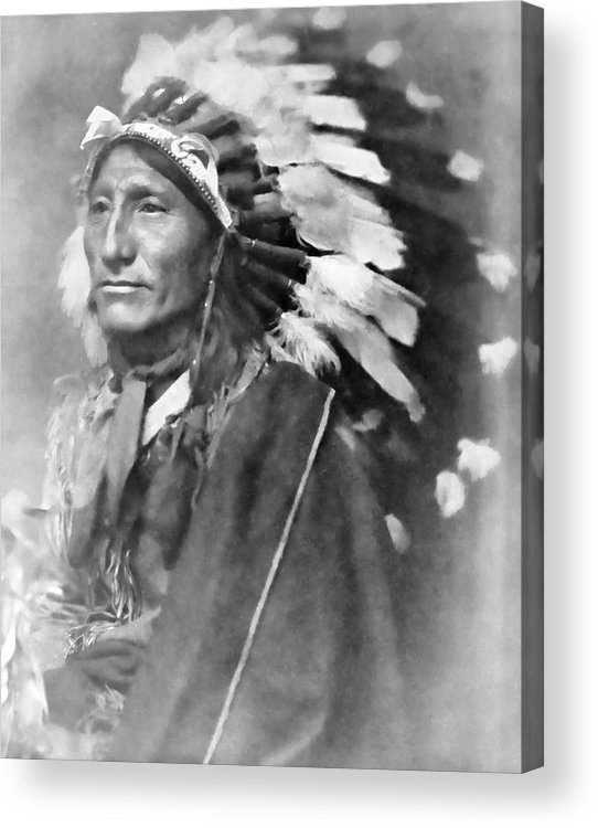 Indian Acrylic Print featuring the photograph Indian Chief - 1902 by Daniel Hagerman