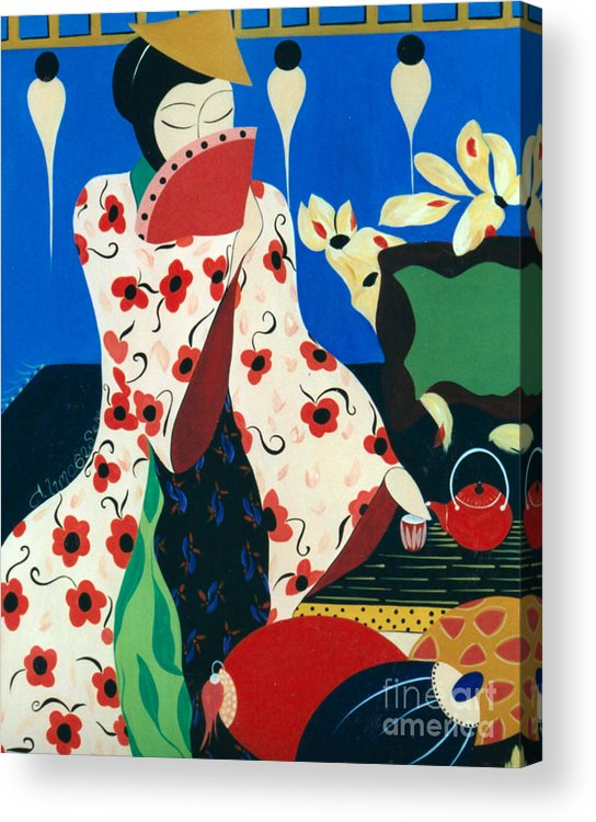#japanese Acrylic Print featuring the painting Japanese Tea by Jacquelinemari