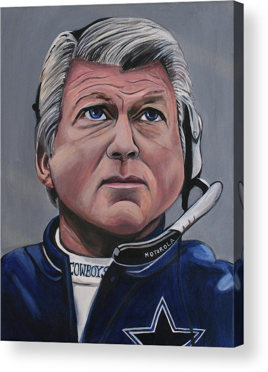 Jimmy Johnson Acrylic Print featuring the painting Jimmy Johnson by Kate Fortin