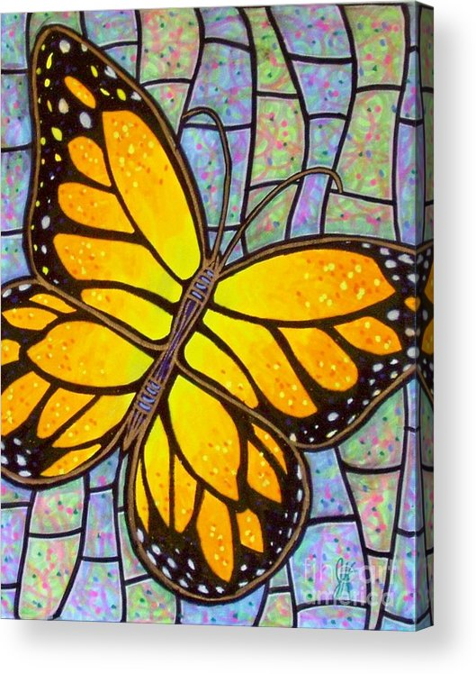 Butterflies Acrylic Print featuring the painting Karens Butterfly by Jim Harris