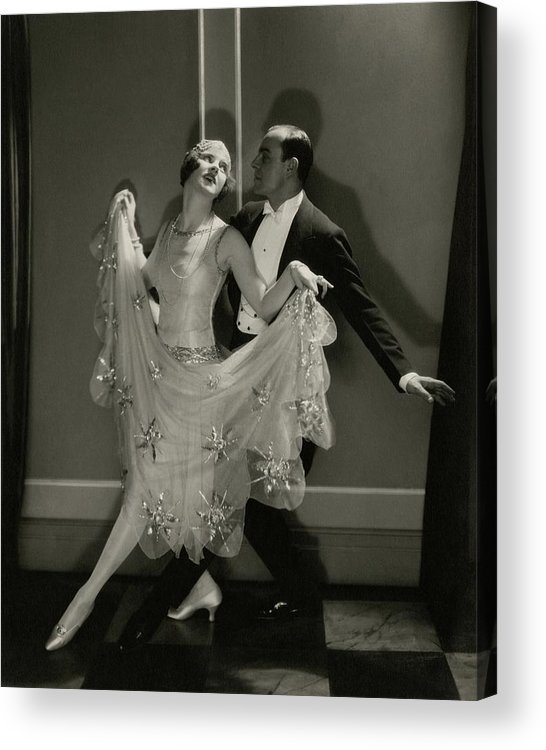 Beauty Acrylic Print featuring the photograph Maurice Mouvet And Leonora Hughes Dancing by Edward Steichen