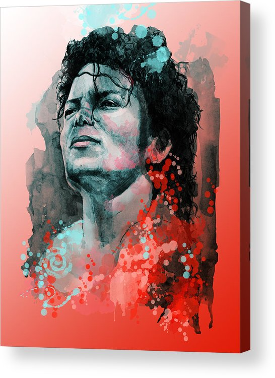 Michael Jackson Acrylic Print featuring the painting Michael Jackson 13 by Bekim M