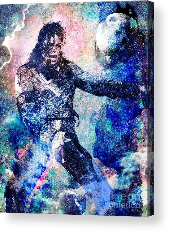 Rock Acrylic Print featuring the painting Michael Jackson Original Painting by Ryan Rock Artist