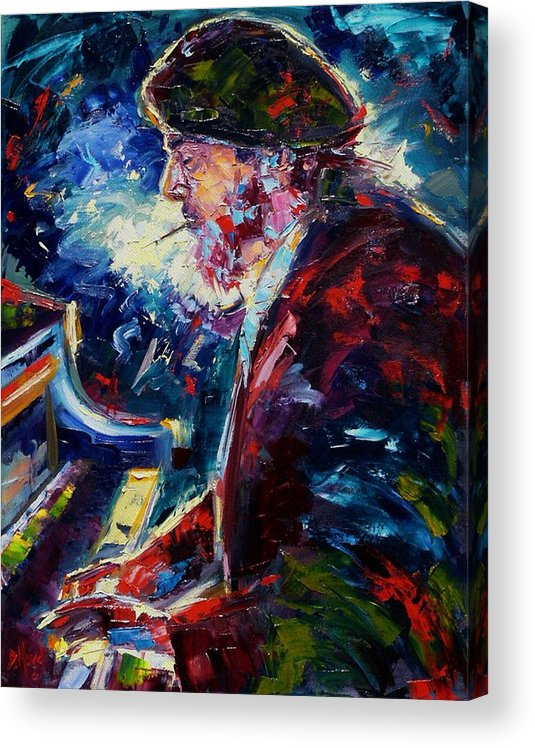 Blues Acrylic Print featuring the painting Night Tripper by Debra Hurd
